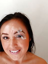 Facial, Facials, Face, Faces, Amateur facial, Cumming