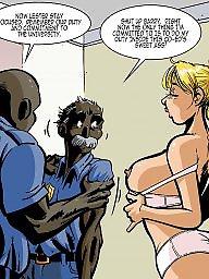 Interracial cartoons, Interracial cartoon, Sex cartoon, Sex, Police, Groups