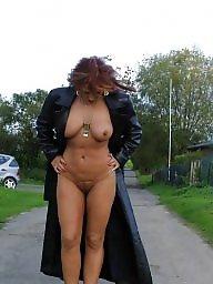 Garden, Brunette mature, Mature nude, Nude mature