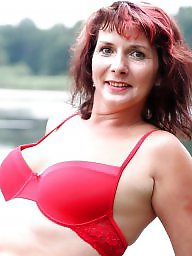 Mature posing, Sexy milf, Lake, Mature pose