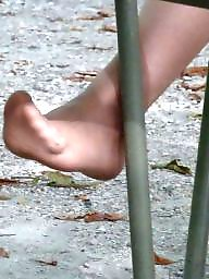 Feet, Nylon feet, Stocking feet, Candids