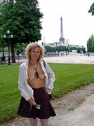 Flashing, Mature flashing, Mature blonde, Mature flash, Blonde milf, Flashing mature
