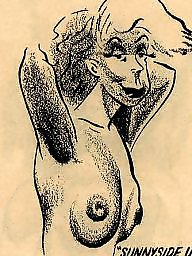 Vintage, Vintage cartoons, Comix, Vintage cartoon, Vintage tits