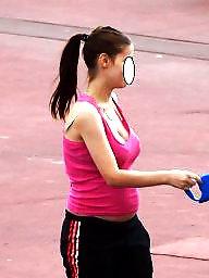 Pregnant, Pregnant teen, Public, Teen public, Voyeur teen, Public voyeur