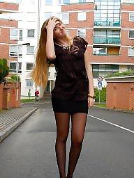 Nylon, Street, Upskirts, Upskirt stockings, Nylon stockings, Amateur nylon