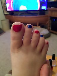 Cute, Toes, Paint, Amateur wife