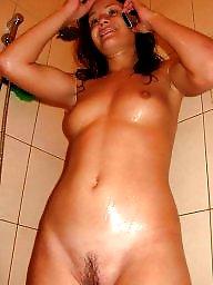 Amateur wife, Bathroom, Mature wife