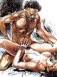 Art, Vintage cartoons, Erotic