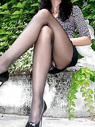 Long legs, Upskirt stockings