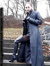 Leather, Latex, Boots, Pvc, Milf, Mature leather