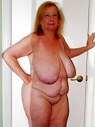 Grandma, Bbw, Home, Mature big boobs