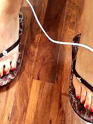 Fetish, Foot, Hidden cam, Toes, Sandals, Foot fetish