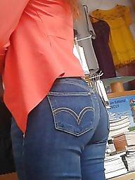 Jeans, Hidden cam, Latin ass