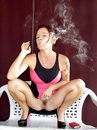 Smoking, Smoke, Mature smoking, Mature boobs, Mature big boobs, Smoking mature