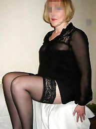 Mature lingerie, Black mature, Black stocking