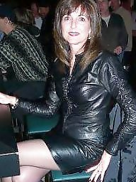 Leather, Mature leather, Milf leather