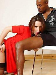 Interracial blowjob, Mrs