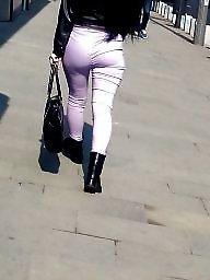 Voyeur, Romanian, Hidden cam, Brunette ass, Hot sexy ass