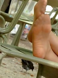 Nylon feet, Nylon, Voyeur, Stocking feet, Candids
