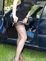 Car, Nylons, Cars, Nylon upskirt, Vintage nylon, Nylon stockings