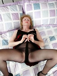 Granny, Old granny, Granny stockings, Granny stocking, English, Old milf