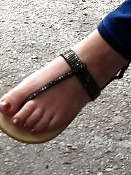 Fetish, Hidden, Foot, Sandals, Hidden cam, Toes