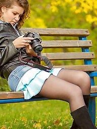 Street, Upskirt stockings, Nylons, Nylon