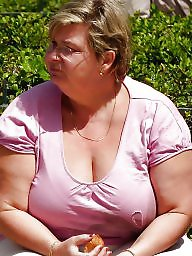 Bbw granny, Grannies, Granny bbw, Cleavage, Granny boobs, Face