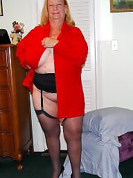 Grandma, Stockings, Home, Old mature