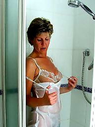 Shower, Uk milf, Showers