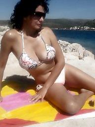 Bikini, Beach, Amateur bikini, Bikini amateur, Brunette amateur, Bikini milf