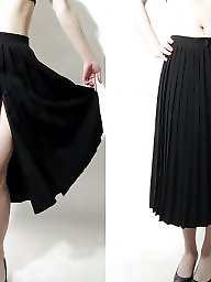 Black, Skirt, Black amateur