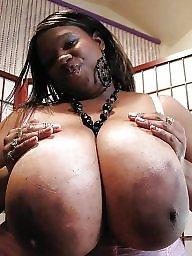Ebony big boobs, Big black tits