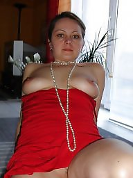 Mature dress, Mature dressed, Red, Dressing