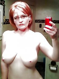 Glasses, Topless, Boobs
