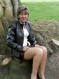 Mature stockings, Park, Uk mature, Parking, Country