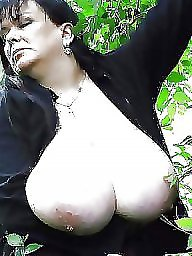 Bbw tits, Busty, Outdoor, Outdoors, Bbw big tits, Flashing tits