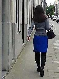 Nylon, Upskirt stockings, Nylons, Street, Amateur nylon