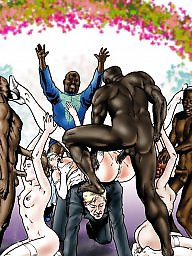 Cartoon, Creampie, Cartoons, Bride, Interracial cartoon, Interracial creampie