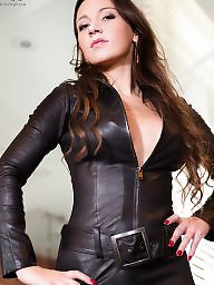 Leather, High heels, Heels, Extreme, Catsuit, Brunette ass