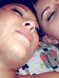 Facial, Cock, Facials, Sharing, Girl and girl, Teen facial