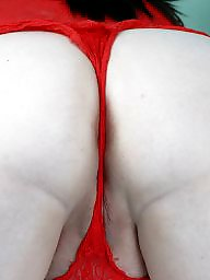 Red, Lace, Bbw amateur