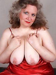 Mature bbw, Clothed, Red, Clothes