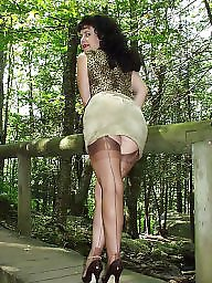 Vintage, Older, Mature stockings, Mature posing, Vintage mature, Posing