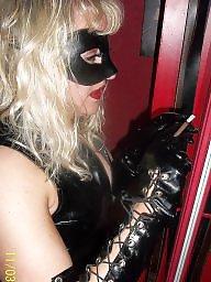 Mask, Femdom, Blonde milf, Behind, Femdom milf