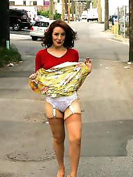 Young, Vintage, Nylon upskirt, Ladies, Upskirt stockings