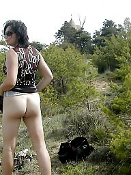 Outdoors, Wife ass, Outdoor mature, Mature wife, Mature outdoor