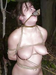 Tied, Bound, Flashing tits, Tied tits, Tied tit