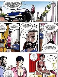 Cartoon, Bdsm cartoon, Brunette, Double, Cartoon bdsm, Bdsm cartoons