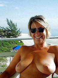 Beach, Mature beach, Vacation, Beach mature, Horny, Mature boob